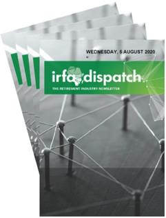IRFA DISPATCH -Wednesday 5 August 2020