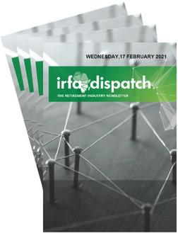 IRFA Dispatch - Wednesday 17 February 2021