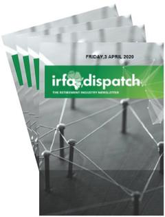IRFA DISPATCH - Friday 3 April 2020