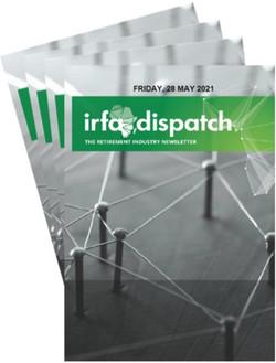 IRFA Dispatch - Friday 28 May 2021