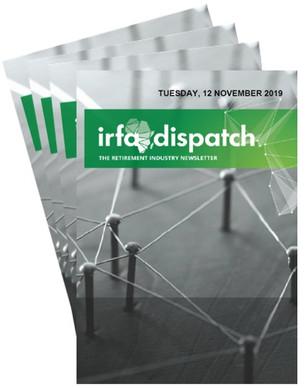 IRFA Dispatch - Tuesday, 12 November 2019