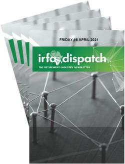 IRFA Dispatch - Friday 16 April 2021
