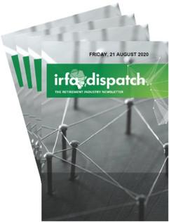 IRFA DISPATCH - Friday 21 August 2020