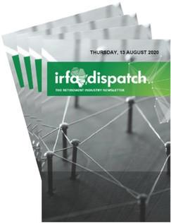 IRFA DISPATCH- Thursday 13 August 2020
