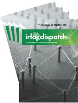 IRFA Dispatch - Thursday 18 March 2021