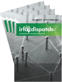 IRFA DISPATCH - Thursday 15 October 2020