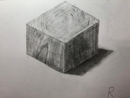 小学生クラス.木片デッサン