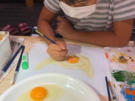 こどもクラス.卵水彩画