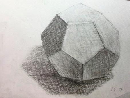 小学生クラス.幾何学体デッサン