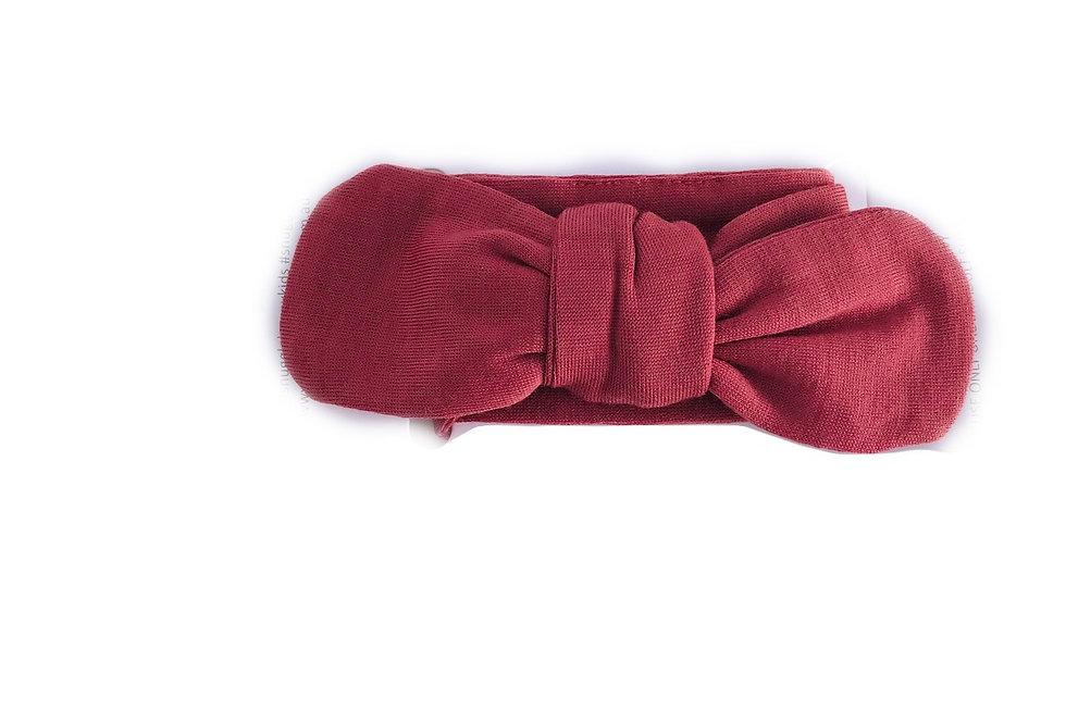 Snuggle Hunny -  Deep Rust Top Knot Headband
