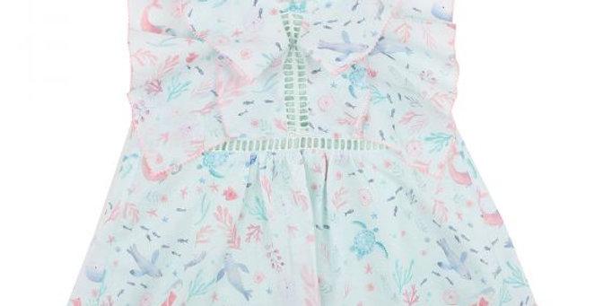 Mini Haha - Ocean Print Dress