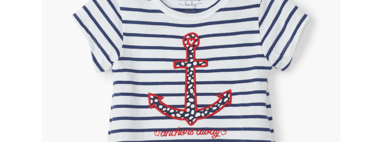 Hatley - Nautical Stripe Baby Tee