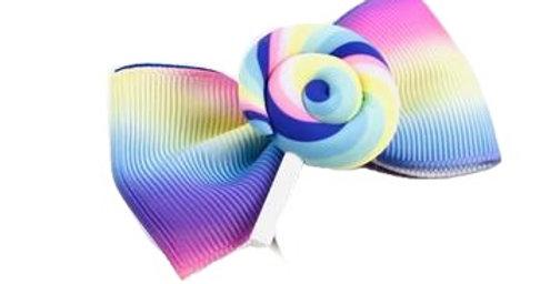 Sweet As Sugar Jewellery - Pastel Swirl Lollipop Hair Clip