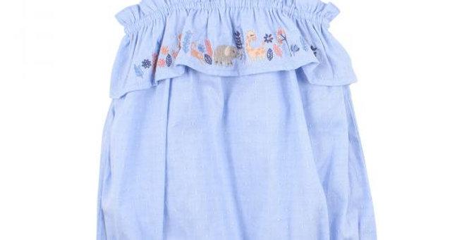 Mini Haha - Lulu Embroidered Romper