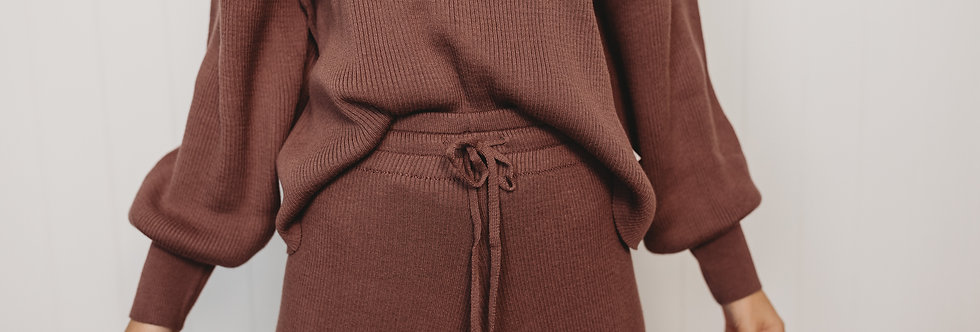 Halo & Horns - Woman | Organic Rib Knit Sweater - Mulberry