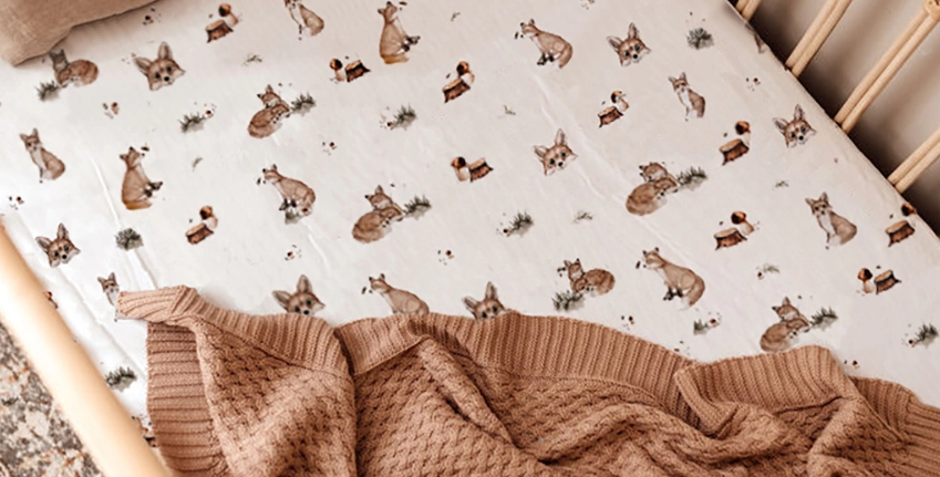 Snuggle Hunny - Fox | Fitted Cot Sheets