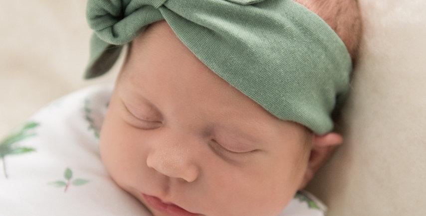 Snuggle Hunny - Olive Topknot Headband