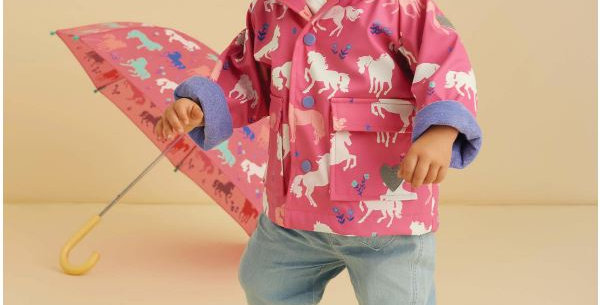Hatley - Painted Pasture Colour Changing Baby Raincoat