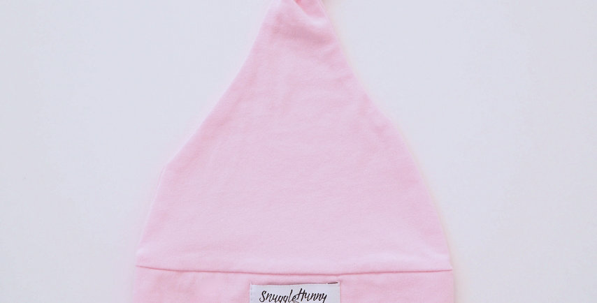 Baby Pink Knotted Beanie