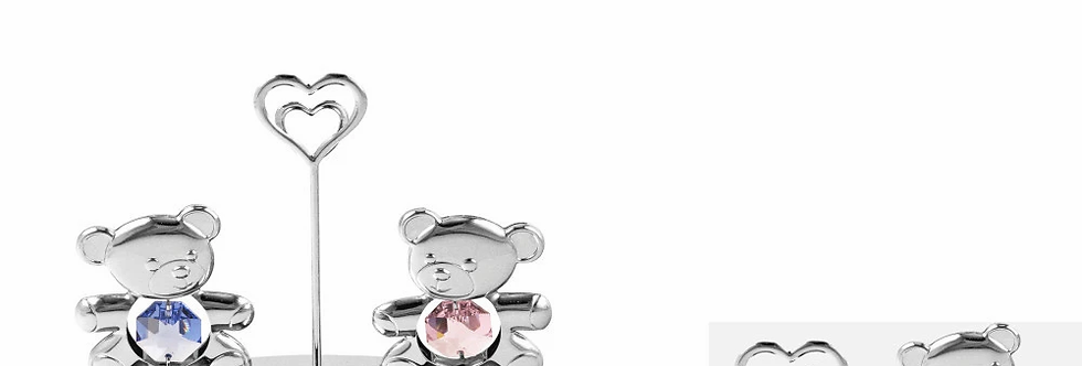 Chrome Plated Metal Twin Teddy Bears