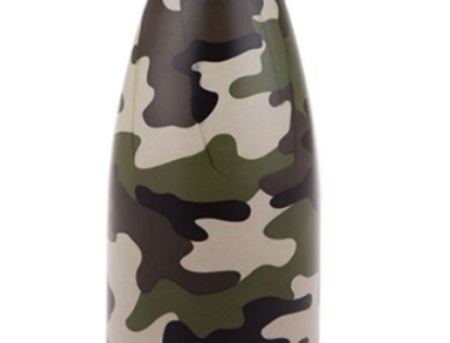 Oasis - 500ml Double Wall Insulated Drink Bottle Camo Green