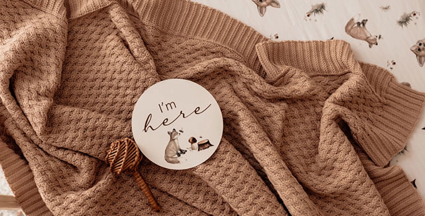 Snuggle Hunny - Hazelnut | Knitted Baby Blankets