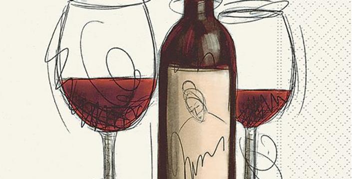 Paper+Design Lucheon Napkins -Vino Rosso