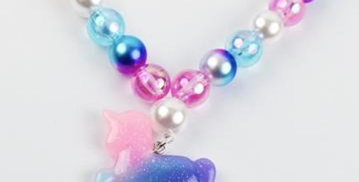 Sweet As Sugar - Beaded Sparkles The Unicorn Necklace
