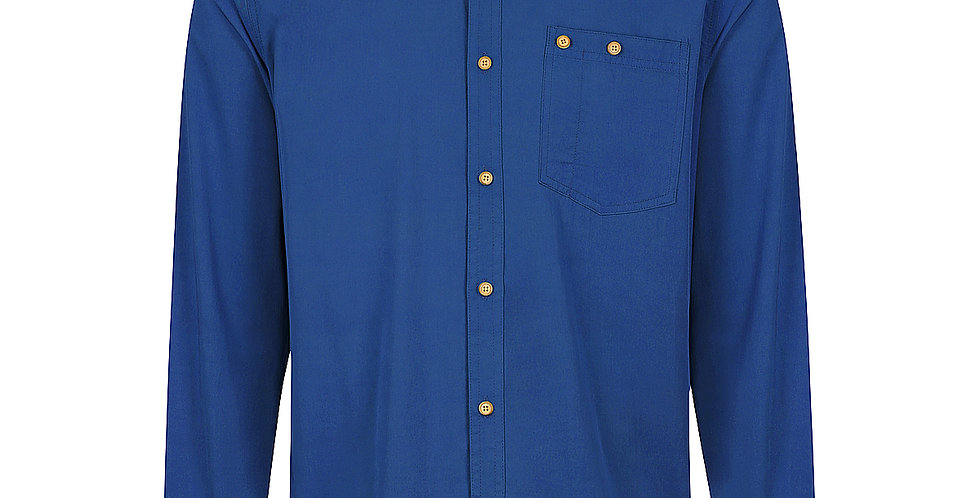 Bamboo Body - Men's Woven Long Sleeve Button Shirt - Navy