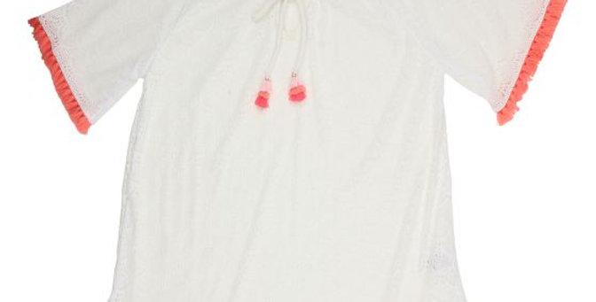 Mini Haha - Lace Tassle Kaftan