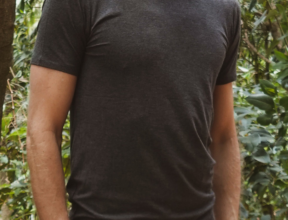 Bamboo Body - Men's Bamboo Tee - Dark Grey/Marbel