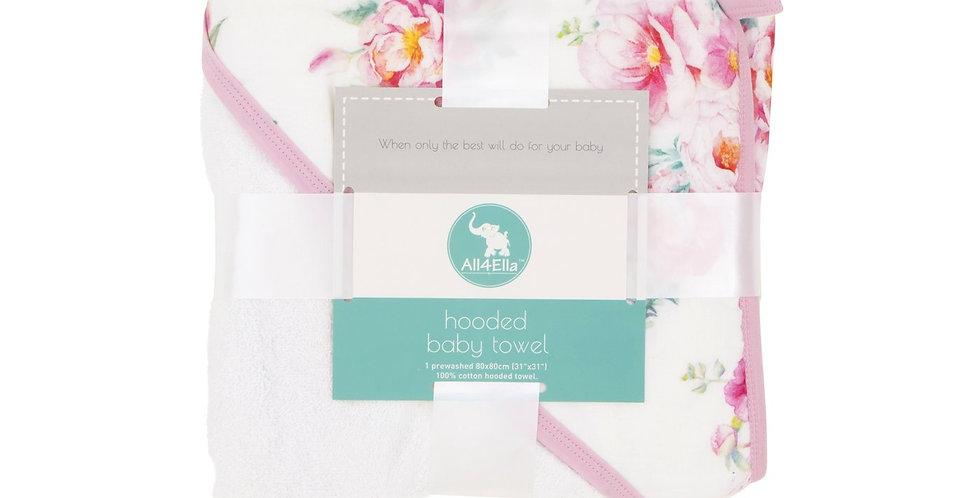 All4Ella - Hooded Towel - Floral
