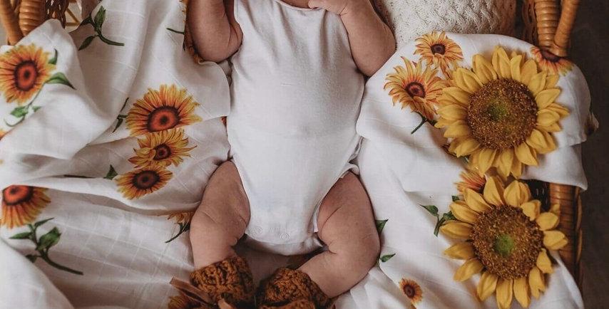 Snuggle Hunny - Sunflower Organic Muslin Wrap