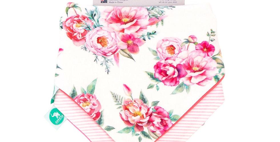 All4Ella - Bandana Bibs 2pk - Reversible - Floral