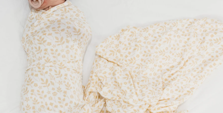 Halo & Horns - Baby Swaddle | Organic Bamboo Jersey - Meadow
