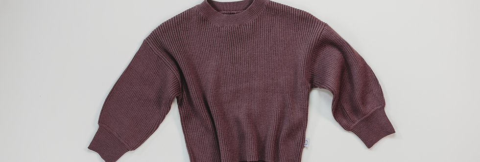 Halo & Horns - Rib Knit Sweater | Mulberry