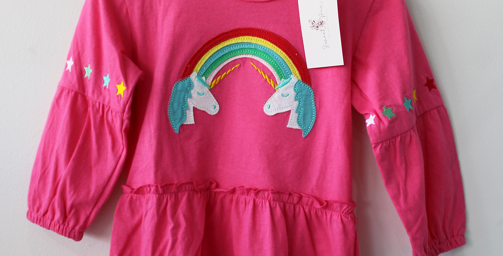 Sweet Pea - Pink Unicorn Dress