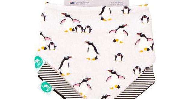 All4Ella - Bandana Bibs - Penguin 2pk