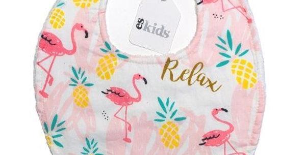 Es Kids - Round Neck Bib Pink Pineapple
