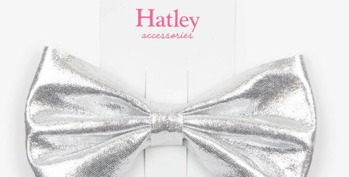 Hatley - Silver Shimmer Bow Hair Clip