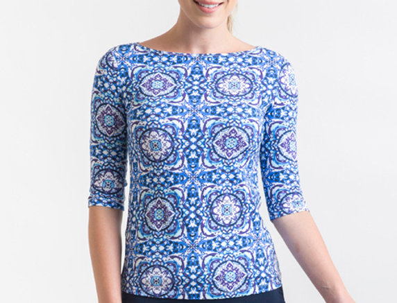 Bamboo Body - Ada Bamboo Boatneck Top