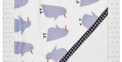 Es Kids - Hooded Towel  Grey Penguin