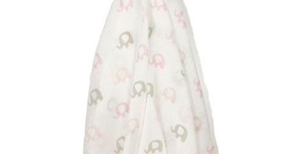 Es Kids - Muslin Wrap Pink Elephant