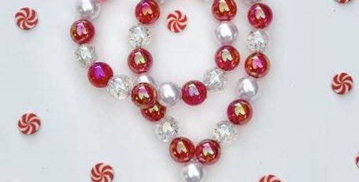 Sweet As Sugar - Christmas Candy Beaded Necklace