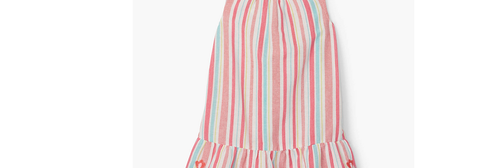 Hatley - Pink Lemonade Stripe Sleeveless Dress