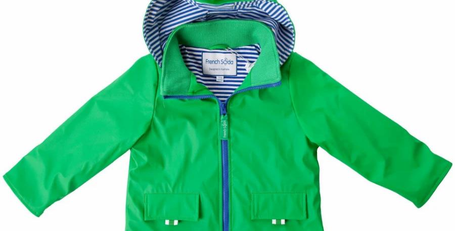 French Soda - Waterproof Raincoat Green