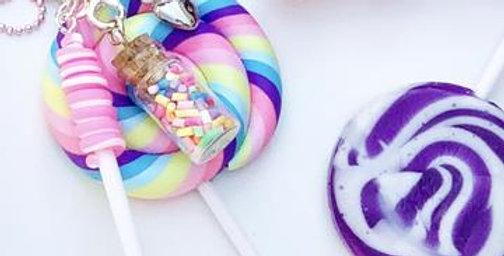Sweet As Sugar - Lollipop Sprinkle Chain Necklace