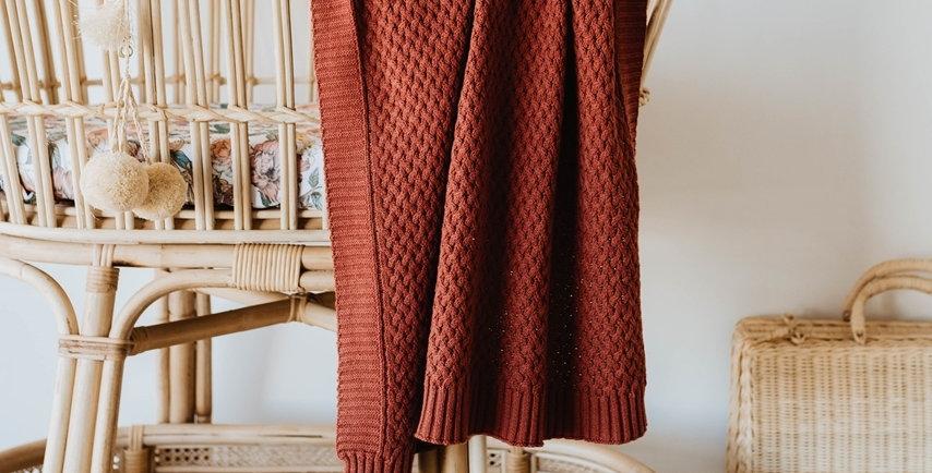 Snuggle Hunny - Umber  Diamond Knit Baby Blanket