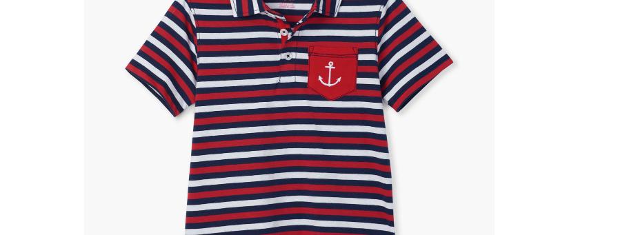 Hatley - Nautical Stripe Polo Tee