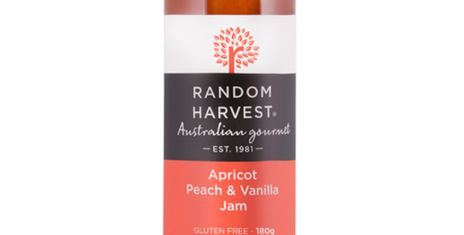 Random Harvest - Apricot, Peach & Vanilla Jam 180g